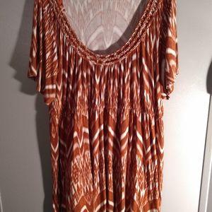 Sonoma Women's Plus size Orange/White Tunic
